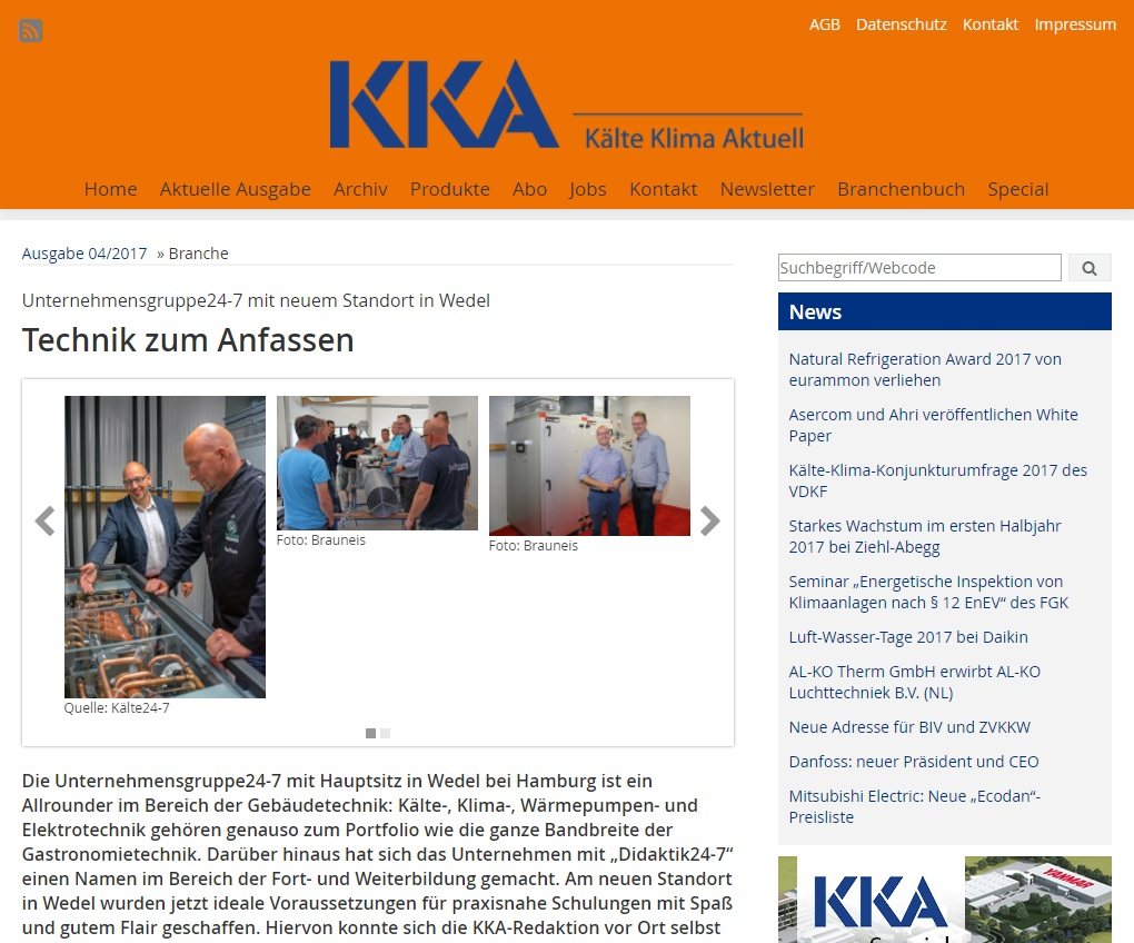Christoph Brauneis berichtet in der KKA